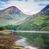 RED BOAT ON LOCH LEVEN